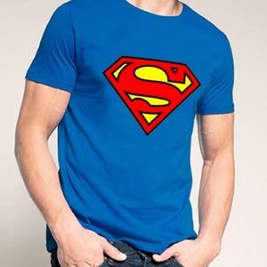 90e047d3 Men Superman shirt NWT blue medium semi fitted Boutique